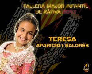 FALLERA MAJOR INFANTIL XATIVA 2017 - TERESA
